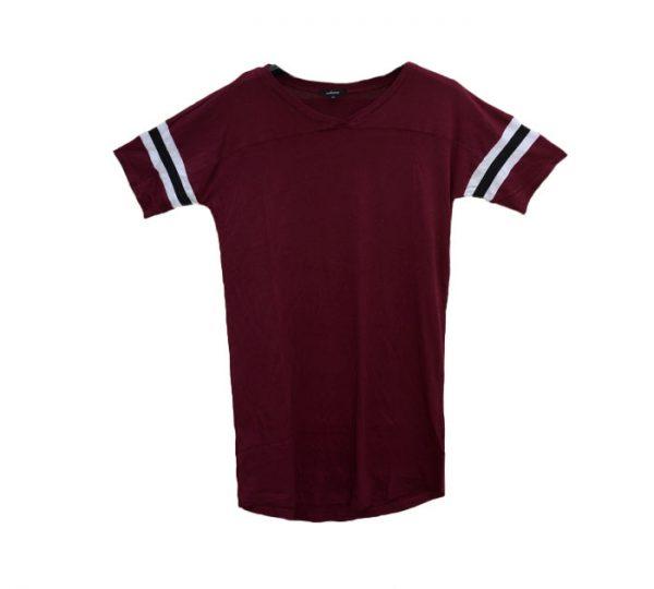 Camiseta túnica (decote em v)
